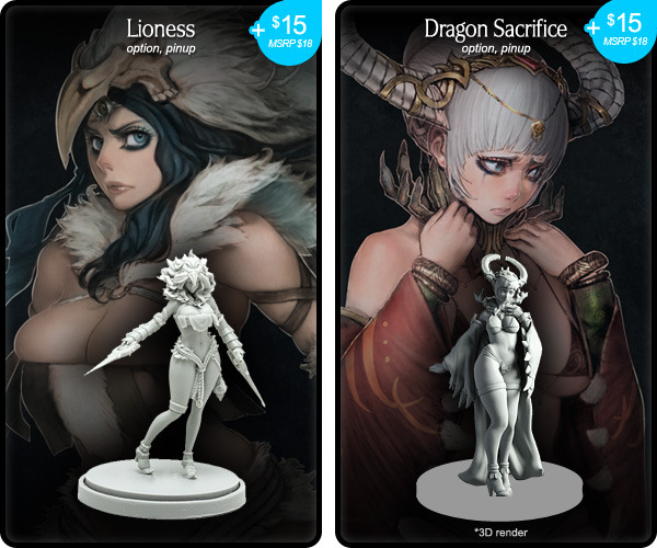 In a nightmarish horror world, women have a very difficult time finding clothes that fit... if they can find any clothes at all. Image from the Kingdom Death: Monster Kickstarter.