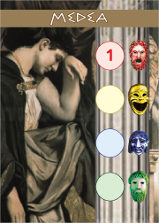 Greek tragedies: a fun theme that lots of people know about and few games tackle, with lots of excellent free-ish art!