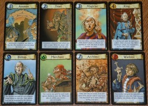 A new player may not know the optimal choice, but at least he or she just has to choose one of eight options... Image from the Board Game Geek.