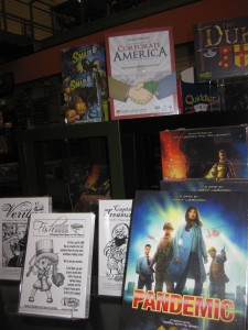 Since the Kickstarter campaign ended, I've been working to get Corporate America into FLGS (Friendly Local Game Stores).