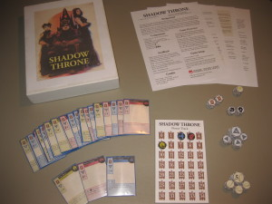 An older prototype of Shadow Throne. As you can see, you can pack a lot of fun into a small number of cards.