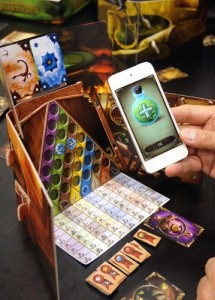 The Alchemists app greatly improves the game's play experience. Image from Board Game Geek.